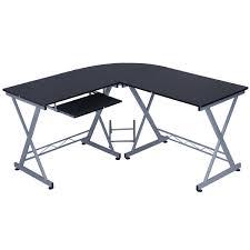 amazon com l shape computer desk wood table laptop corner
