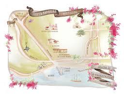 Santa Barbara Map Hand Illustrated Map Of Santa Barbara U2013 Honey Paper