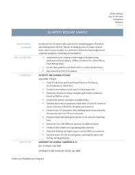 Art Resume Examples by 3d Resume Templates Free Resume Example And Writing Download