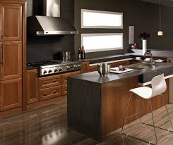 Contemporary Kitchen With Cherry Cabinets Kitchen Craft Cabinetry - Kitchen with cherry cabinets