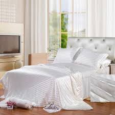 White Silk Bedding Sets Silk Bedding Sets For Most Beautiful House Experience Home Decor