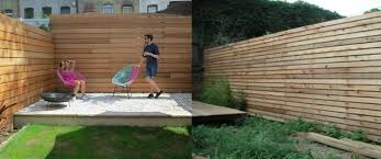 send us pictures of your horizontal fence design brownstoner