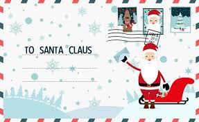 new year post card christmas letter to santa claus merry christmas and happy new