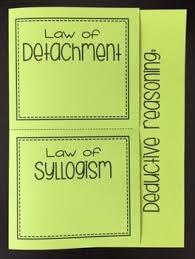 deductive reasoning law of detachment u0026 law of syllogism foldable