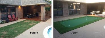 Putting Turf In Backyard Do It Yourself Putting Greens Custom Putting Greens
