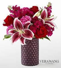 ftd vibrant fuchsia bouquet by vera wang fall thanksgiving