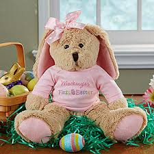 easter bunny gifts personalized stuffed easter bunny baby girl s easter pink