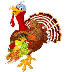turkey with horn of plenty royalty free cliparts vectors