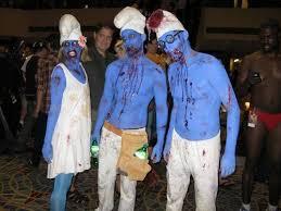 Smurf Halloween Costumes Smurf Zombies Haha Ahh Zombies Halloween