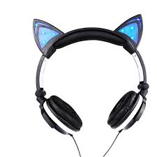 light up cat headphones cat ear light up headphones aoao couture