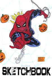 spiderman sketch cover on my sketchbook blank by mdavidct on