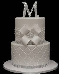 white on white wedding cake with bling cake in cup ny