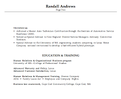 resume for an automotive service manager susan ireland resumes