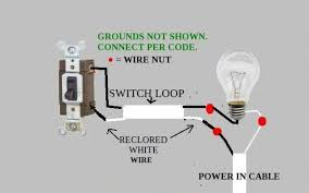image result for light switch diagram electrical wiring