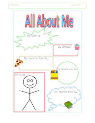 5 best images of about me printable preschool all about me