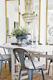 Tolix Dining Table Gate Leg Dining Table With Tolix Chairs Mixed With Gold Framed
