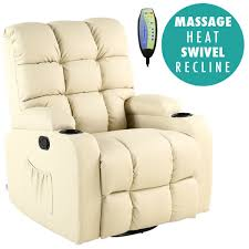 Swedish Leather Recliner Chairs Regal Leather Recliner Chair Rocking Massage Swivel Heated Gaming
