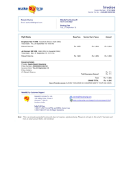 hotel receipts template make my trip invoice nf25135812822