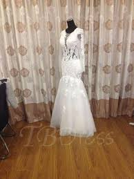 real pictures appliques mermaid long sleeve wedding dress