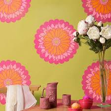Daisy Room Decor Daisy Dot Flower Stencils For Walls U0026 Furniture Royal Design