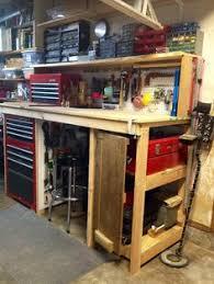 Tool Bench Organization What U0027s Your Workbench Look Like The Garage Journal Board Diy