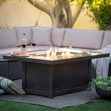 furniture bond granite falls stainless steel propane fire pit in