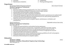 Biomedical Technician Resume Sample by Supply Technician Resume Sample Reentrycorps