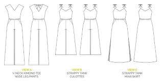 jumpsuit stitching pattern the sallie jumpsuit pattern and maxi dress pattern closet case files