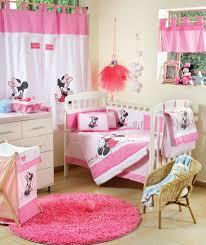 Baby Crib Sets Baby Bedding Sets Disney Baby Minnie Mouse Flower 4 Piece Crib Set