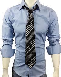 24 men s casual long sleeve plain dress shirt light blue