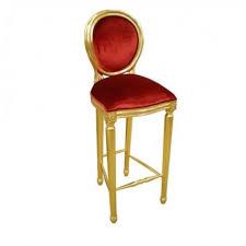 chaise dorée chaise de bar velours et or