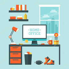 Home Interior Design Vector by Modern Home Office Interior U2014 Stock Vector Maglara 44121611