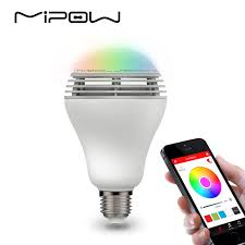 mipow playbulb bluetooth speaker smart dimmable led light bulbs