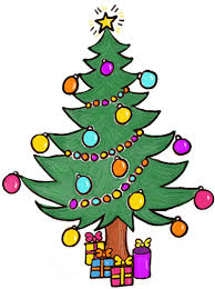 draw christmas tree gifts u0026 presents