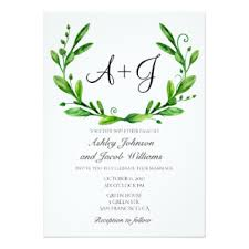 greenery wedding invitations announcements zazzle