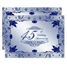 45 wedding anniversary 45th anniversary invitations announcements zazzle au