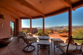 views from covered patio of kayenta utah home kayenta desert