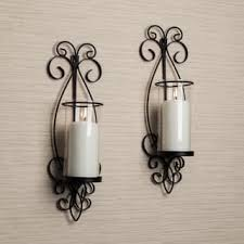 Candle Wall Sconces Wrought Iron Pillar Candles U0026 Candle Holders Shop The Best Deals For Nov 2017