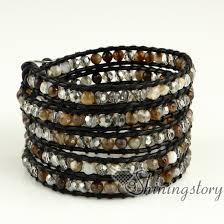 bracelet leather wrap images Wholesale wrap bracelets leather jewelry bracelet wrap woven jpg