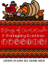 thanksgiving countdown writing by writing house tpt