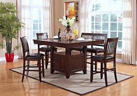 Counter Height Dining Room Furniture 7pc Counter Height Dining Set Overstock Warehouse