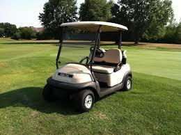 2011 club car precedent beige electric golf cart 48 volt batteries