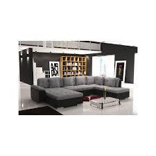 canapé panoramique en cuir grand canapé d angle panoramique en u smile bi matière en tissu et