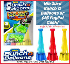 bunch balloons win zuru bunch o water balloons or 15 paypal ww 6 25