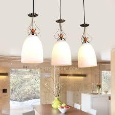 Country Pendant Lights 3 Light Glass Shade Kitchen Country Pendant Lights