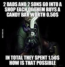 Father And Son Meme - riddle time sons father and brain