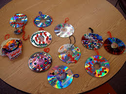 thanksgiving cd recycled cd ornaments ornament craft and wreaths