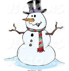 free cartoon snowman clipart 49