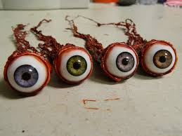 halloween prop realistic human ripped out eyeball 4 colors
