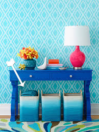 how to spray paint blue ombre baskets hgtv